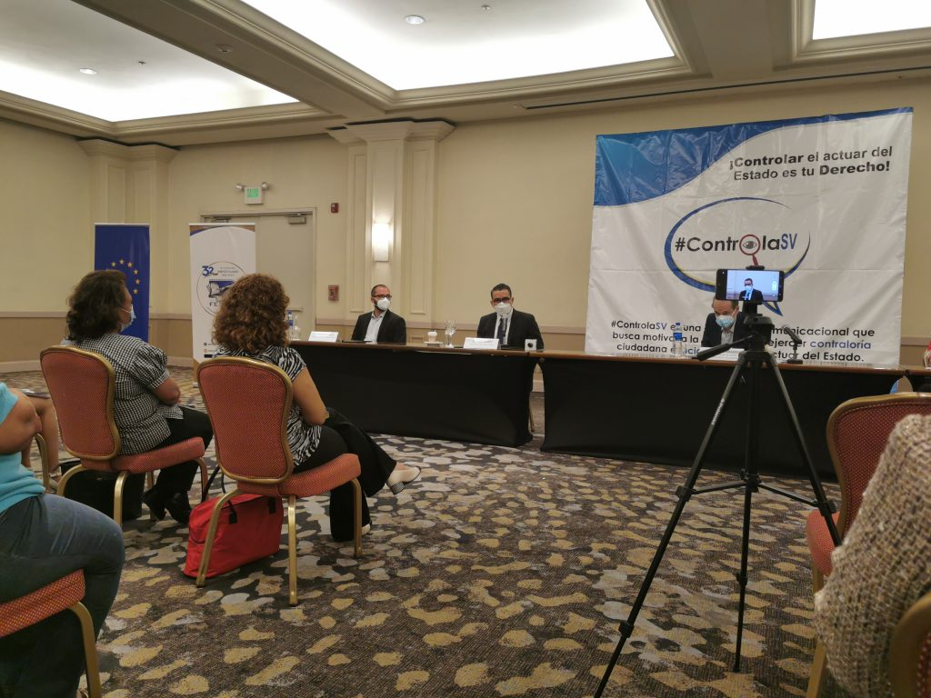 El evento contó con la presencia del Embajador de la Unión Europea en El Salvador, Andreu Bassols; Oficial de Terra Nuova, Roberto Pecci; y Director Ejecutivo de FESPAD, Saúl Baños.