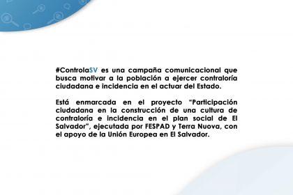 FESPAD y Terra Nouva lanzarán campaña sobre contraloría ciudadana