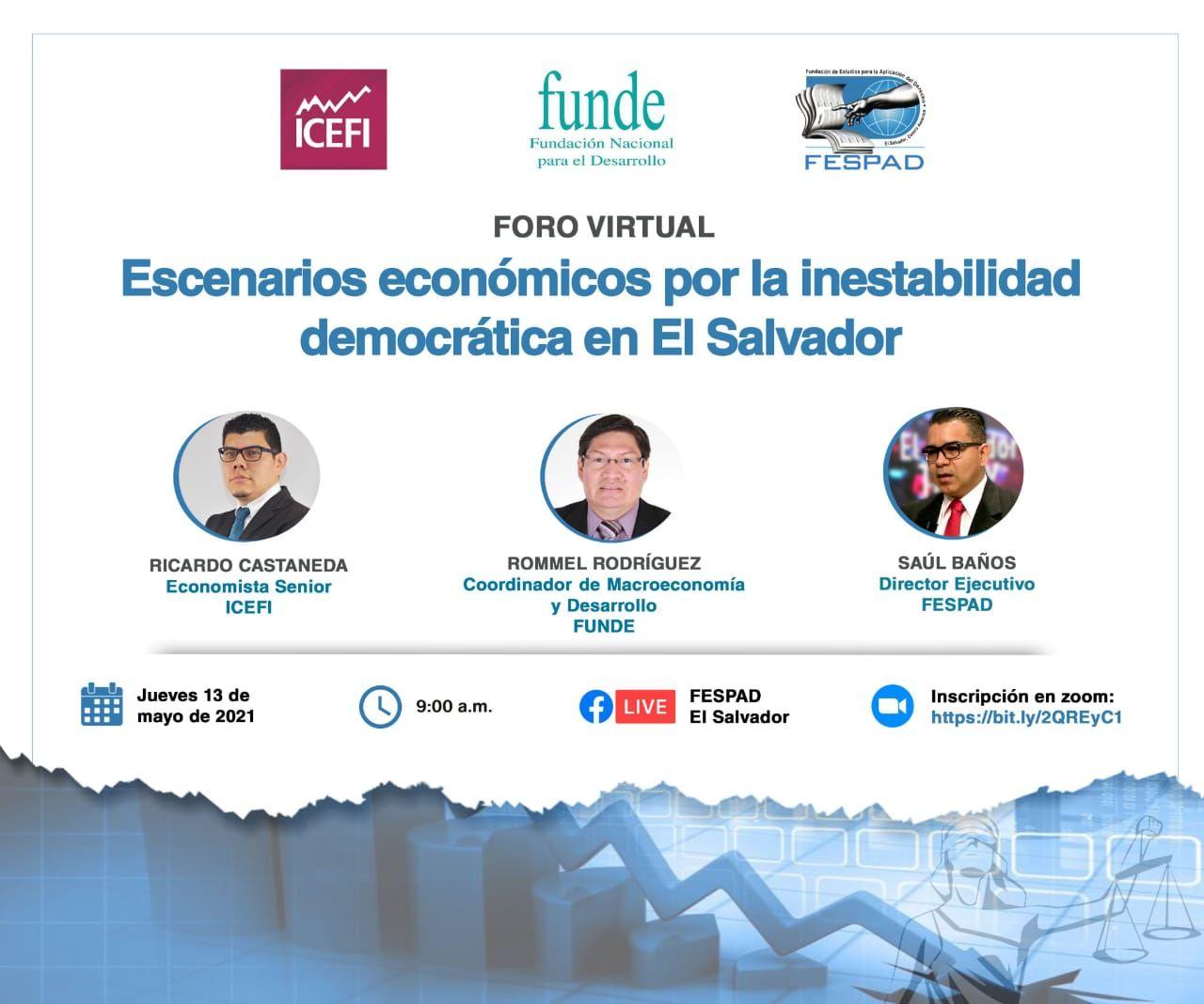 Foro virtual: Escenarios económicos por la inestabilidad democrática en El Salvador
